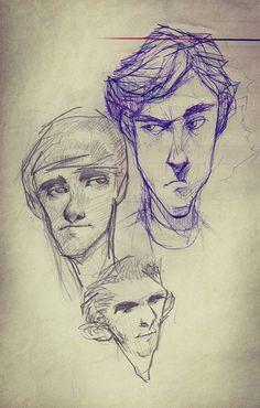 Sketchbook: Two by Hani Troudi, via Behance