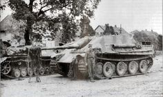 Captured Jagdpanther and Panthers ausf.G