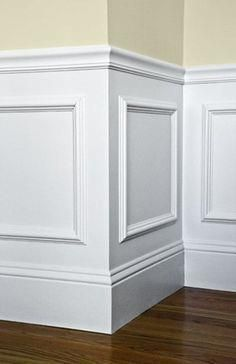Easy wainscotting idea: buy frames from Michaels, glue to wall and paint over entire lower half. Got this tip from a savvy home improvement person.DDING Easy wainscotting idea: buy frames from Michaels, glue to wall and paint over entire lower half. Foyer Design, House Design, Staircase Design, Faux Wainscoting, Wainscoting Ideas, Wainscoting Bathroom, Wainscoting Height, Paneling Ideas, Home Decor Ideas