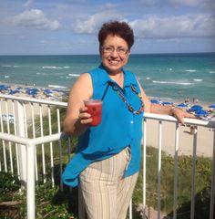 Disfrutando en Miami.