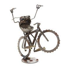 WHEELIE DESKTOP SCULPTURE | Metal Monster Sculpture Art | UncommonGoods