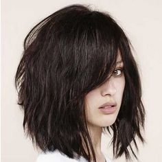 Textured Bob with Bangs | The Best Short Hairstyles for Women 2015