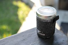 Simple, stylin' and sustainable. A reusable travel mug made from a mason jar.