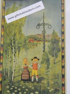 Swedish Midsommar Poster Print #105-BR7 Maypole Children in Costumes Malmqvist