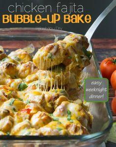 Chicken Fajita Bubble – Up Bake   I Wash You Dry