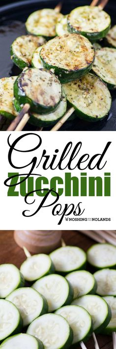 Grilled Zucchini Pops are so easy and great with any BBQ. By themselves they are a great vegan option,also gluten free and low carb.