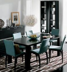dinning room - a little dark but I really like the chairs! especially cuz I always think im going to go with a neutral.