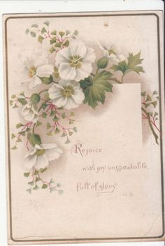 Rejoice-with-Joy-Unspeakable-Full-of-Glory-Religious-Victorian-Card-c1880s