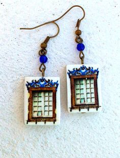 The Windows of Portugal Antique Replica Earrings SINTRA  by Atrio,