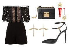 Untitled #338 by cxndai on Polyvore featuring polyvore Mode style self-portrait Tom Ford Gucci Annette Ferdinandsen Christian Louboutin fashion clothing