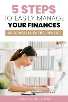 Struggling to manage your finances as an online entrepreneur? Check out these 5 essential tips to manage your finances easily. How to Organize Your Finances and Change your Life - 5 clear steps for getting your business finances organized and setting yourself up for a successful business ahead. #budgeting101 #financelessons, how to manage money as an entrepreneur, how to manage money like a pro #moneytips #moneymakingtips #moneymanagement Make Money Blogging, Money Saving Tips, Make Money Online, How To Make Money, Online Business, Successful Business, Business Advice, Affiliate Marketing, Content Marketing
