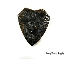 1 Carved Stone Cameo Pendant Bead, Goddess Pendant, Tigers Eye Beads, Brown Beads, Natural Stone, Semi precious Gemstone Beads, Focal Bead by IvoryTowerSupply on Etsy