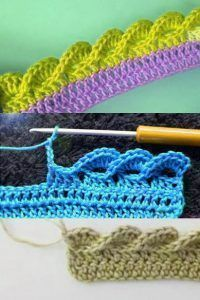 3D wave crochet edging