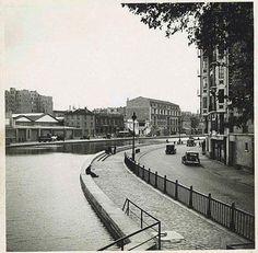 Près de Hôtel du Nord,1938 / Photo par Alexandre Trauner / Repérages pour le tournage d'Hôtel du Nord