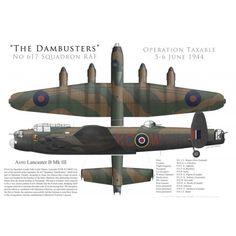 "Lancaster Mk III, S/L ""Les"" Munro, No 617 Squadron RAF, Operation Taxable, 5/6 juin 1944 - Bravo Bravo Aviation"