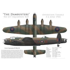 "Lancaster Mk III, S/L ""Les"" Munro, No 617 Squadron RAF, Operation Taxable, 5/6 juin 1944 - Bravo Bravo Aviation"