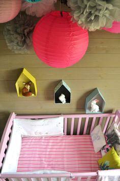 La jolie chambre de Tara - déco, baby, cute, baby room, chambre bébé, lit bébé rose