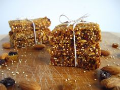 cooking ala mel: Carrot Cake Quinoa Bars Kurt does like carrot cake & fitness so this might be worth a try. Can you substitute prunes for dates? Anyone??