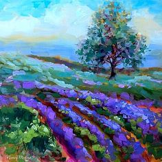 Lavender Hilltop by Nancy Medina