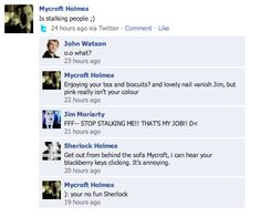 sherlock bbc funny   BBC Sherlock comic: slenderman. again. by ~Graphitekind on deviantART