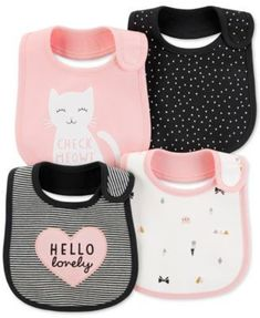 Carters Baby Girls Hello Lovely Teething Bibs One Size Pink/black/white Baby Outfits, Kids Outfits, Cute Baby Clothes, Baby Clothes Shops, Teething Bibs, Baby Supplies, Carters Baby Girl, Baby Bibs, Baby Care