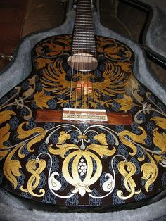 www.adriancard.com - Hand painted guitar done by Adrian Card