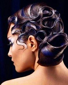 Ballroom hair with emphasis makeup