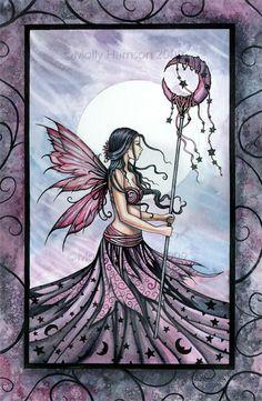Molly Harrison Fairy Art Purple Dream