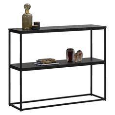 Wandtafel Quebec - zwart - 79x100x30 cm Quebec, Apt Ideas, Room Ideas, Steel Furniture, Industrial, Bedroom Apartment, Console Table, Living Room Decor, Home Improvement