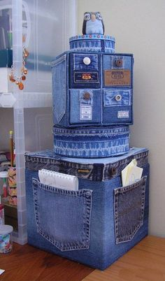 My family has a lot of denim laying around the house, so it would be useful to make something out of it.