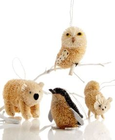 Martha Stewart Collection Christmas Ornament Large Arctic Buri Animal Ornaments For The Home