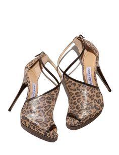 Jimmy Choo Fey Peep-Toe Leopard-Print sandal. 212 872 8947