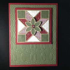 Card with Quilt Builder Framelits Dies from Stampin' Up