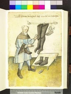 Tumherr (Mr. Tower), most shoes (Schuster), from Mendel Housebook, c. 1425