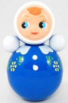 tuimelaar pop -girl groot blauw
