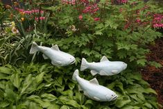 Ceramic Garden Fish----I absolutely Love these! Definitely going to start saving up for some!