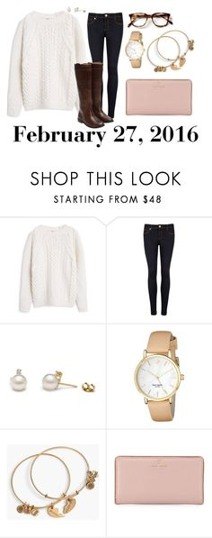 """""""February 27, 2016"""" by jennie-le on Polyvore featuring MANGO, Ted Baker, Kate Spade, Alex and Ani, Frye, women's clothing, women's fashion, women, female and woman"""
