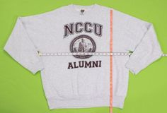 NCCU Alumni Sweatshirt Sz XL Maroon Crew Neck Pullover North Carolina Central #FruitoftheLoom #Sweatshirt