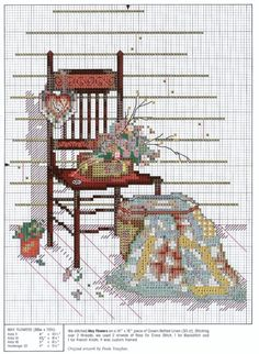 """""""May Flowers"""" counted cross stitch pattern designed by Paula Vaughan - One of the designs in a three-part series """"Forever Yours""""  Pattern  saved from joobee.gallery.ru"""