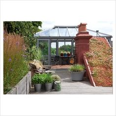 London roof terrace and glasshouse pinned by @dakwaarde