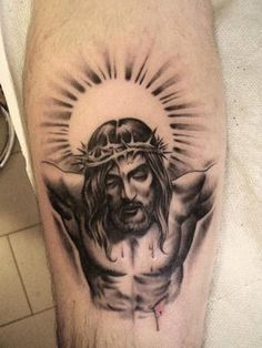 Jesus by Matteo Pasqualin, Porto Viro, Italy M Tattoos, Badass Tattoos, Body Art Tattoos, Hand Tattoos, Sleeve Tattoos, Tattoos For Guys, Christus Tattoo, Daniel Tattoo, Catholic Tattoos
