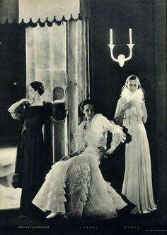 Chanel 1933 Augustabernard & Worth Evening Gown Chanel 1933 Augustabernard & Worth Evening Gown