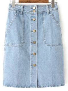 SHARE & Get it FREE | Button Closure Denim Midi SkirtFor Fashion Lovers only:80,000+ Items • New Arrivals Daily Join Zaful: Get YOUR $50 NOW!