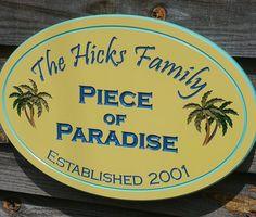 Beach House Name Custom Outdoor Sunshine Sign Beach House Names, Beach House Signs, Pool Signs, Beach Signs, Beach Houses, Cottage Names, Cottage Signs, Coastal Cottage, Coastal Style