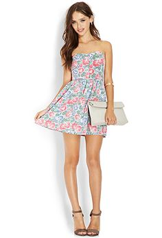 Sweetheart Floral Chambray Dress | FOREVER 21 - 2000107513