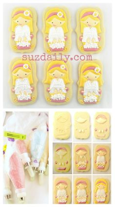 How to make adorable Spa Cookies.  So cute for a birthday party favor.  Complete tutorial.  www.suzdaily.com