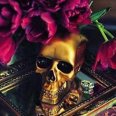 tulips + skull