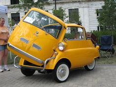 BMW Isetta. 3 wheel microcar, Italian designed and first appeared in 1955.