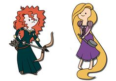 adventure time - merida and rapunzel