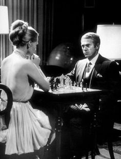 Steve McQueen and Faye Dunaway - The Thomas Crown Affair (by Norman Jewison,1968)